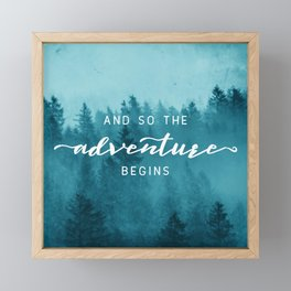 And So The Adventure Begins - Turquoise Forest Framed Mini Art Print