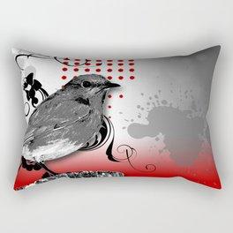 Trash Polka Bird & Flower Abstract Rectangular Pillow