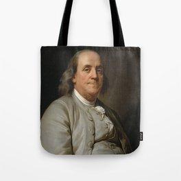 Benjamin Franklin Oil Painting Tote Bag