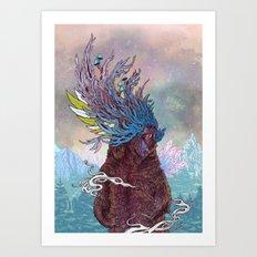 Journeying Spirit (Bear) Art Print