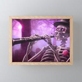 """""""Move your body!"""" - The musician skeleton Framed Mini Art Print"""