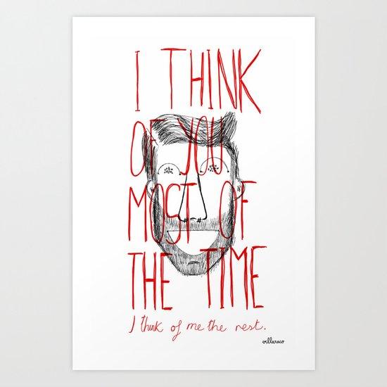 I think of you Art Print