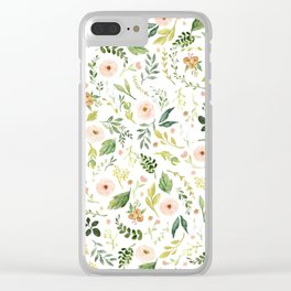 Botanical Spring Flowers Clear iPhone Case