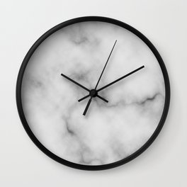 White Marble Pattern Wall Clock