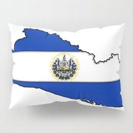 El Salvador Map with Salvadoran Flag Pillow Sham