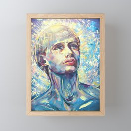 San Francesco, Saint Francis of Assisi, portrait of the saint, Framed Mini Art Print