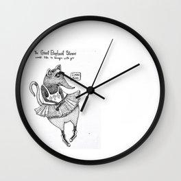 E is for Elephant Shrew Wall Clock
