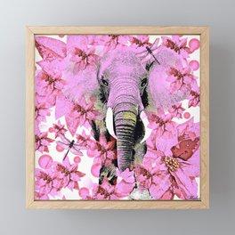 ELEPHANT PINK Framed Mini Art Print