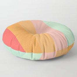 Vintage Rainbow Floor Pillow