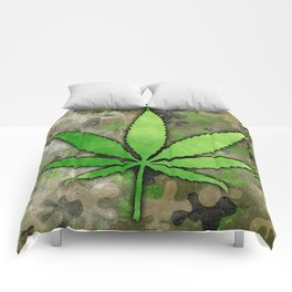 Weed Leaf Comforters