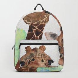 Giraffe's Family Portrait by Maureen Donovan Backpack
