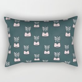 Maori Tiki Mask Pattern Rectangular Pillow