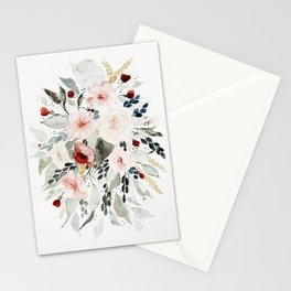 Loose Watercolor Bouquet Stationery Cards
