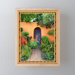 Garden Delights, Mesilla, NM Framed Mini Art Print