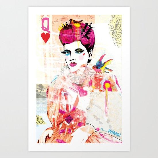La Queen De Dimanche / The Queen of Sunday Art Print