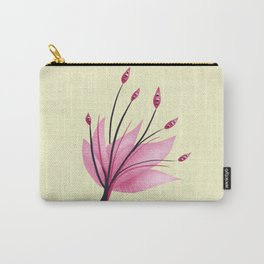 Pink Abstract Water Lily Flower Carry-All Pouch