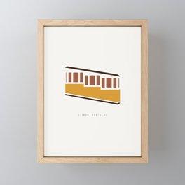 Lisbon, Funicular, Ascensor da Bica, Portugal Framed Mini Art Print