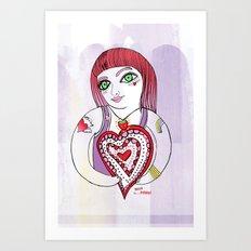 --->Strawberry_POP_Love! Art Print