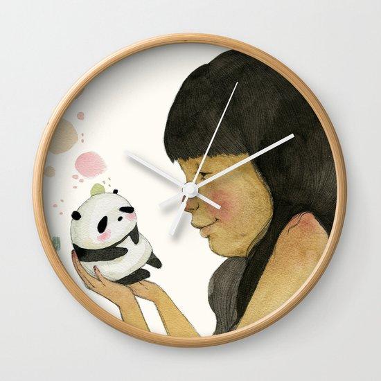 I adore you, baby Wall Clock