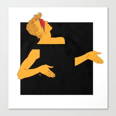 david bowie and the black square of gender Canvas Print
