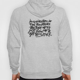 Inspiration is for amateurs x typography Hoody