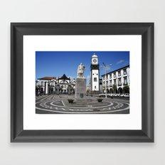 Portuguese city Framed Art Print