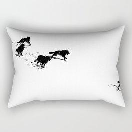 snowblinded // (wolf pack) Rectangular Pillow