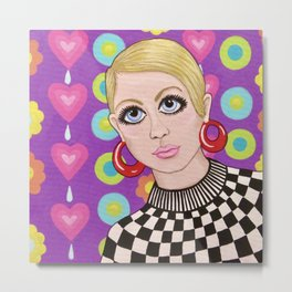 Groovy 60s Model Metal Print