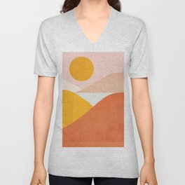 Abstraction_Mountains Unisex V-Neck