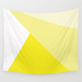 Simple Geometric Triangle Pattern - White on Yellow - Mix & Match with Simplicity of life Wall Tapestry