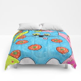 Blue Fat cat Comforters