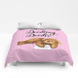 Doodling Doodle (Pink) Comforters