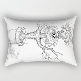 Toothy Tree Rectangular Pillow
