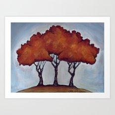 Fall Crepe Myrtles Art Print