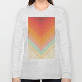 Rainbow Chevrons Long Sleeve T-shirt