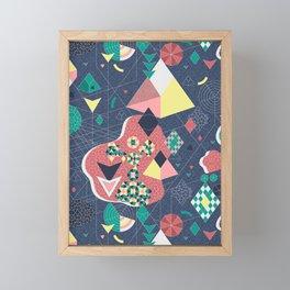 Abstract Fragmentation Framed Mini Art Print