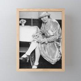 Showing Her Flask - Hortense Rhea Framed Mini Art Print