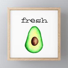 Fresh Avocado fr e sh a voca do Framed Mini Art Print
