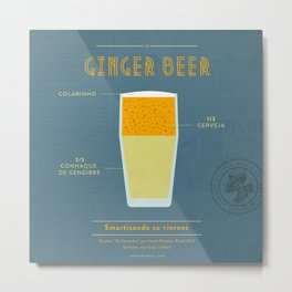 Ginger Beer - Cocktail by Juan Metal Print