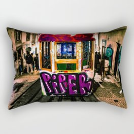 Trolly Graffiti Rectangular Pillow