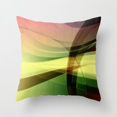 Abstrakt - Frühlingserwachen Throw Pillow