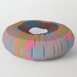 Colorful Retro Pattern Floor Pillow
