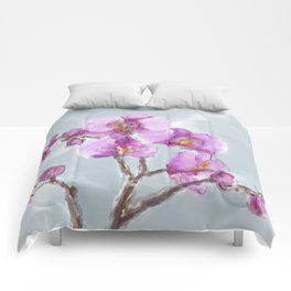 Watercolor Orchids Comforters