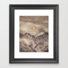 Lines in the mountains XII Framed Art Print