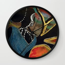 Abstract Sillouette Lady Wall Clock