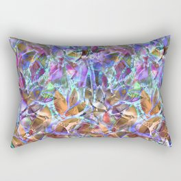 Floral Abstract Stained Glass G268 Rectangular Pillow
