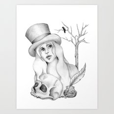 Mrs. Edgar Allan Poe Art Print
