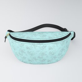 Blue Butterfly Wing Medley Fanny Pack