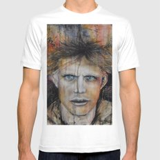 Marble Man White Mens Fitted Tee MEDIUM