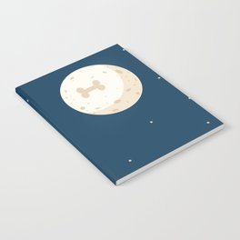 Fly to the moon _ navy blue version Notebook